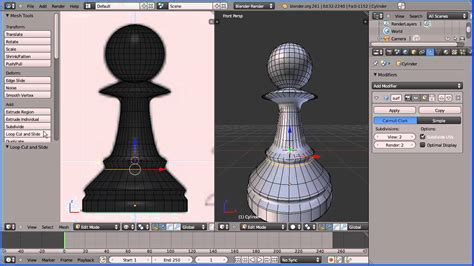 construct 2 chess tutorial blender 2 6 modelling tutorial making a pawn chess piece