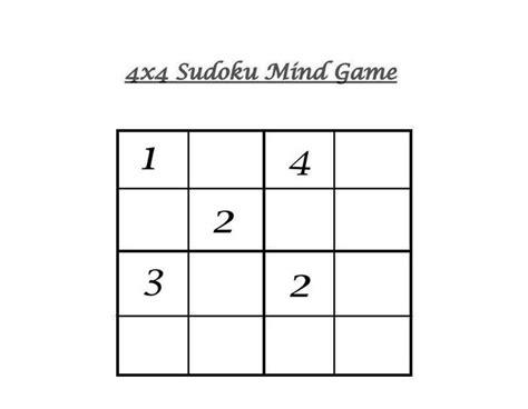 printable sudoku 4x4 4x4 sudoku 10