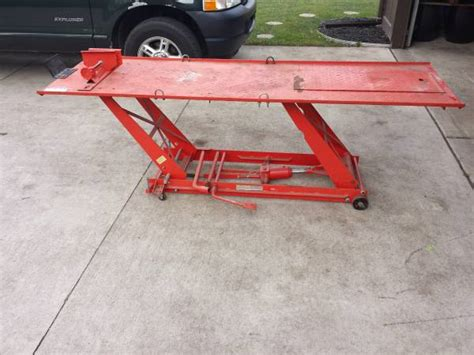 motorcycle lift table for sale motorcycle hydraulic lift table for sale in clinton michigan