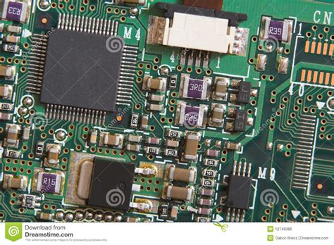 resistors on a circuit board circuit board with resistors and microprocessors royalty free stock image image 12748386
