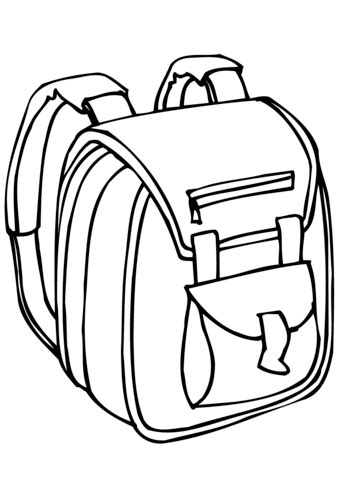 coloring page school bag school bag coloring page free printable coloring pages