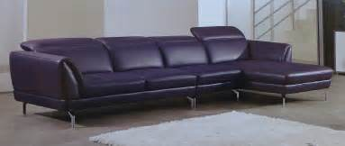 American Furniture Warehouse Sofas Releve Italian Top Grain Purple Leather Modern Sectional Set