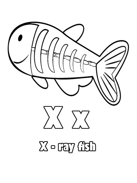 X Ray Fish Coloring Page Az Coloring Pages X Colouring Pages