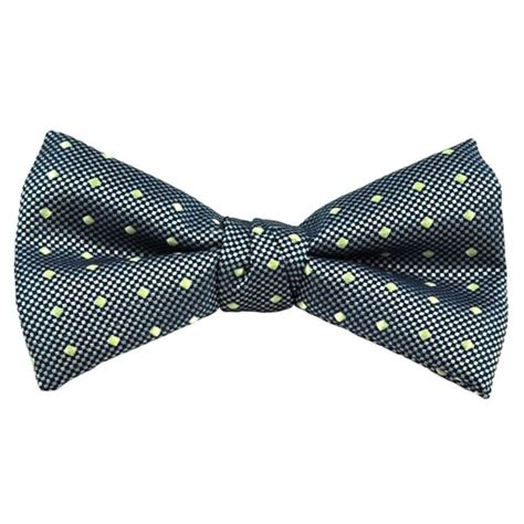 yellow pattern bow tie navy silver chequerboard yellow polka dot patterned