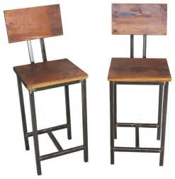 Reclaimed Wood Bar Stool Reclaimed Wood Bar Stools Set Of 2 Industrial Bar Stools And Counter Stools By What We Make