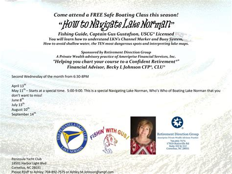 nc boating license classes free safe boating class how to navigate lake norman
