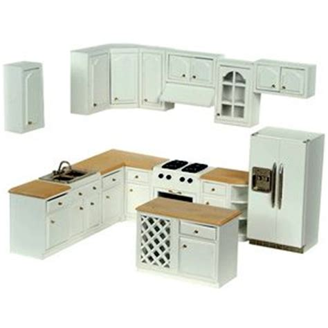 Miniature Dollhouse Kitchen Furniture Complete Modern Dollhouse Kitchen Set It S A Miniature World Modern Dollhouse