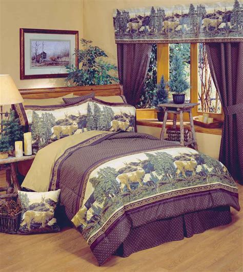 mountain bedding sets deer mountain comforter sets cabin and lodge bedding