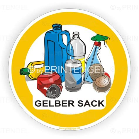 Kfz Gelber Aufkleber by Aufkleber M 252 Lltrennung Recyling Aufkleber Gelber Sack