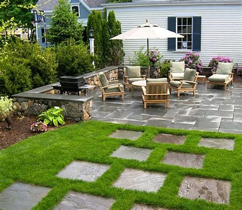 Grass Patio Ideas by Patio Wayland Ma Photo Gallery Landscaping Network