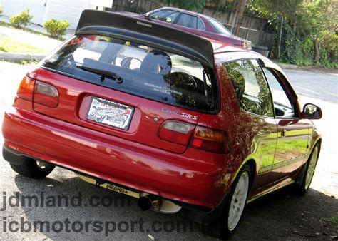 backyard special wing backyard special bys eg6 hatchback roof spoiler frp