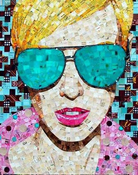 How To Make Paper Mosaic Artwork - sandhi schimmel gold artslant