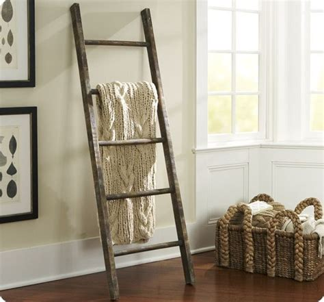 ladder home decor rustic blanket ladder for 5