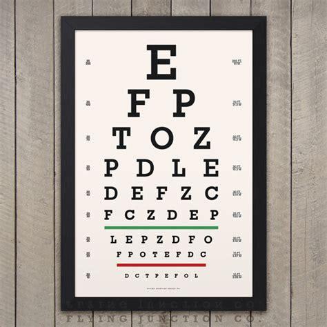 printable custom eye chart eye chart print classic snellen vintage look