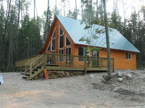 Lake Cottage Plans With Loft Cabin Construction Ely Tower Vermillion Lake Babbitt Mn
