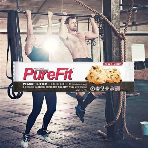 Purefit Peanut Butter Chocolate Chip Bars 57gr purefit nutrition bars