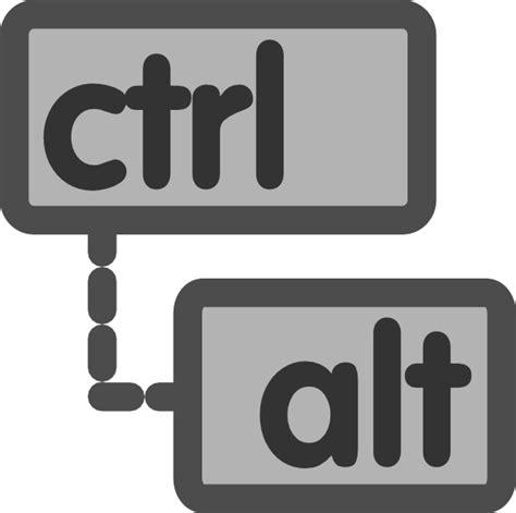 Alt Ctrl ctrl alt clip at clker vector clip