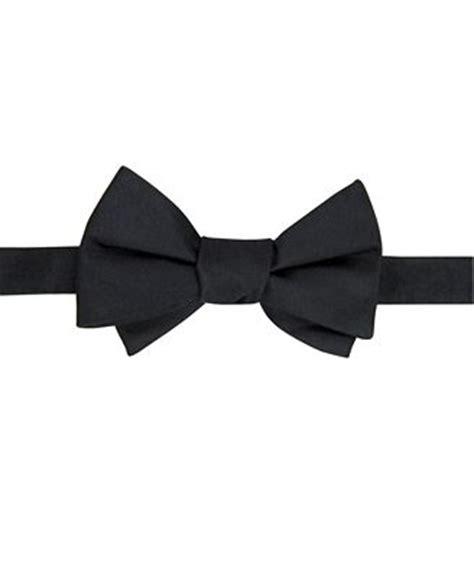 hilfiger bow tie solid ties pocket squares