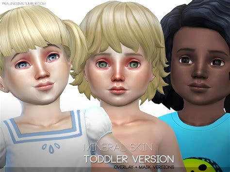 sims 4 toddler eyes cc pralinesims mineral skin toddler version