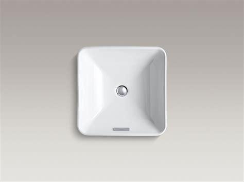 kohler vox sink square standard plumbing supply product vox square vessel sink