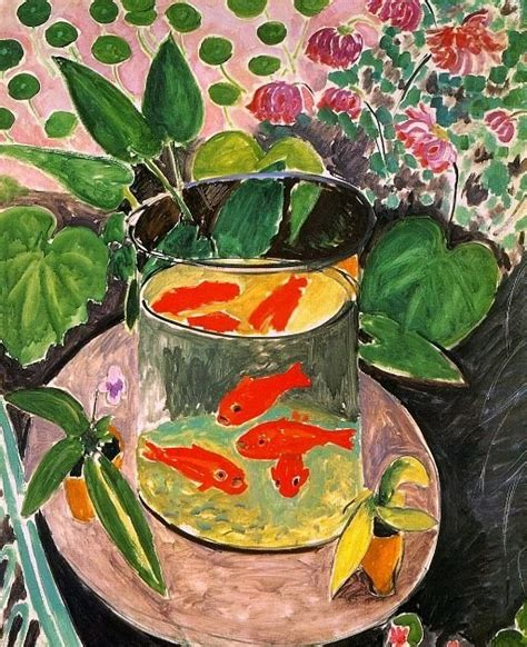 goldfish challenge the rabbit muse challenge the goldfish by henri matisse
