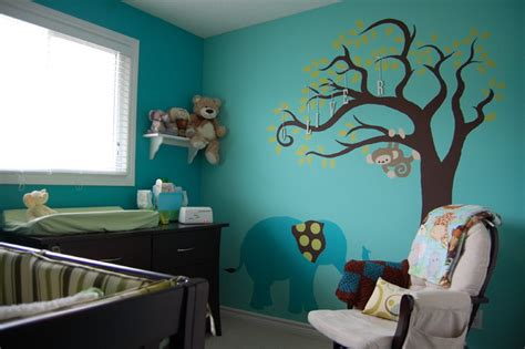 teal baby room teal elephant nursery contemporary toronto by decked out spaces