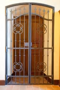 Iron Gate Front Door Front Door Gate Designs Wrought Iron Security Doors Image Of Home Design Inspiration