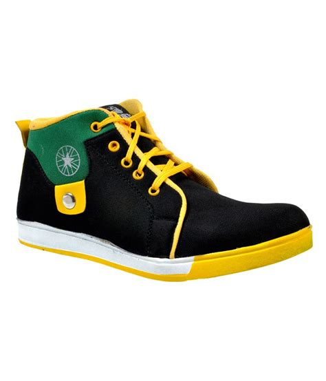 versoba black yellow canvas shoes price in india buy