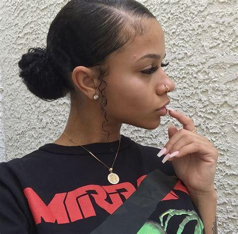african american bun on naturalmedium length hair weakipedia slayed hair pinterest natural hair