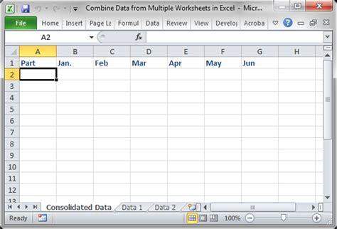 consolidate data from worksheets excel 2013