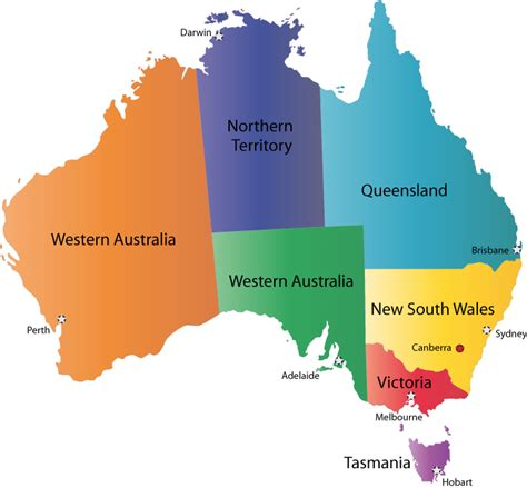 australia map with countries and capitals last in line australia