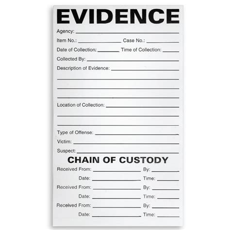 printable evidence labels arrowhead forensics adhesive chain of custody label a
