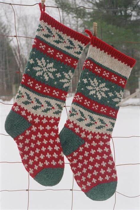 free knitting pattern for large christmas stocking holly christmas stocking knitted by anniwoolens craftsy