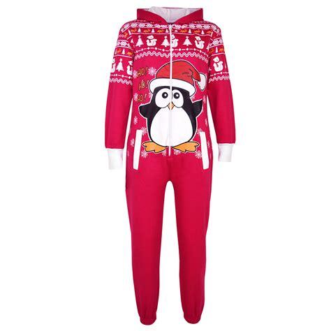 images of christmas onesies kids girls boys novelty christmas penguin fleece a2z