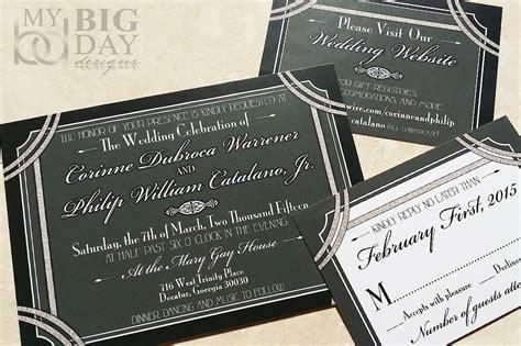 1920s style wedding invitations 1920 s style great gatsby wedding invitation