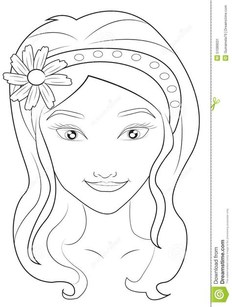 pics for gt drawing of a girl face for kids