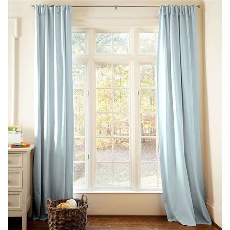 Curtains For Nursery Solid Robin S Egg Blue Drape Panel Carousel Designs