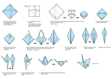 Steps To An Origami Crane - my chicago botanic garden tag archive origami