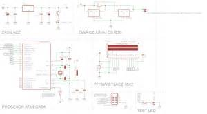 dioda led obliczanie rezystora pierwszy projekt na atmega termometr zegarek woltomierz 2