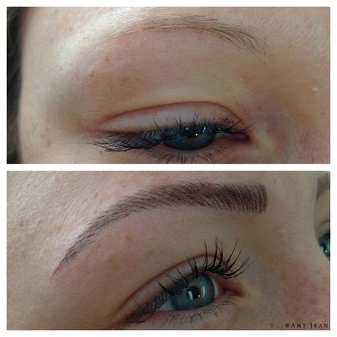 eyebrow tattoo before and after feather touch brow sydney melbourne gold coast