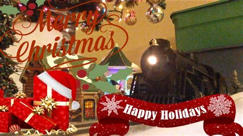 the polar express train set under the christmas tree 2017