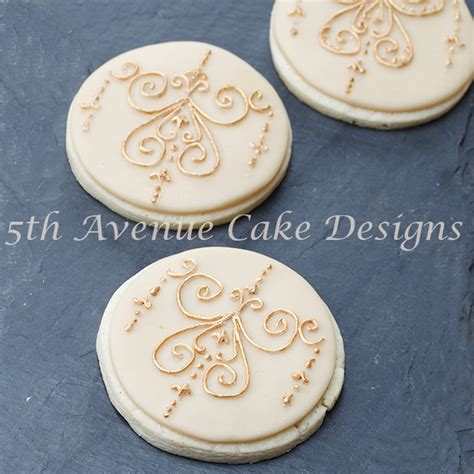 How To Decorate Sugar Cookies With Royal Icing Medallion Filigree Cookies 5thavenuecakedesigns