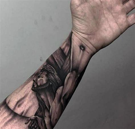 cool arm tattoo designs 100 jesus tattoos for cool savior ink design ideas