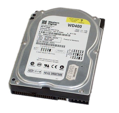 Hardisk 40gb western digital wd400eb 00cpf0 40gb ide disk drive enlarged preview
