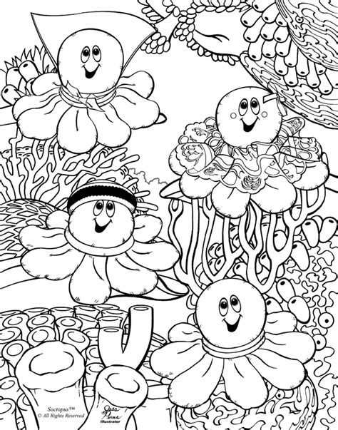 Coral Reef Coloring Pages For Kids Coloring Home Coral Reef Coloring Pages