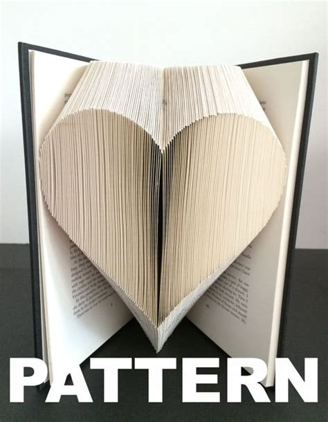 pattern art book book folding pattern heart free instructions great