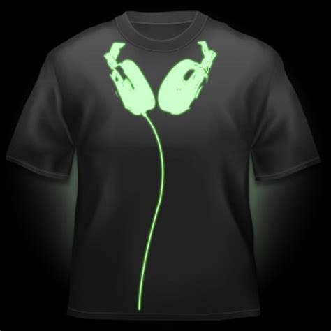 Kaos Black Tshirt Nike F C glow in the headphones t shirt