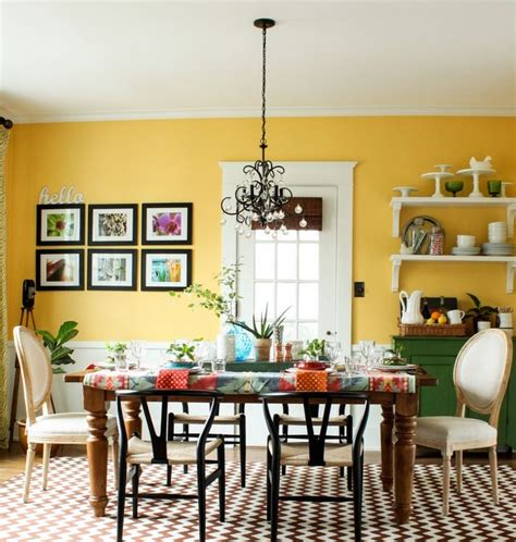30 new dining room ideas for summer - Yellow Dining Room Ideen