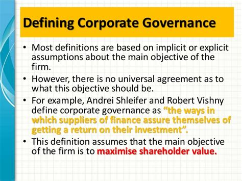 Business Ethics And Corporate Governance Notes For Mba by Mba1034 Cg Ethics Week 2 Corporate Governance Intro