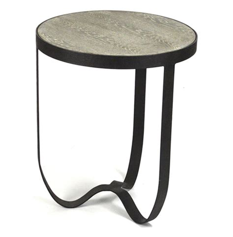 industrial metal side table deco industrial modern rustic metal round side table